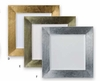"""Elegance® Chargers Square Lacquer Polyresin 13"""" 4/set"""