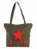 "Tote Bag Canvas Chinese Army Design ""Serve the People"""