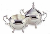 Elegance® Hotel Collection Margaret Silverplated Cream and Sugar Set