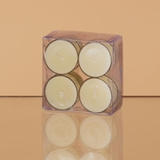 Scented Tealight Candles Clear Cups 8/pkg  Fresh Linen Scent