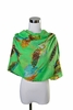 Scarf Polyester, Bird  Paradise Design Green