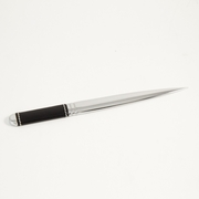 Stitched  Black Leather Letter Opener