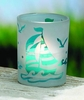 Etched Glass Sailboat Votive or Tealight  Holder