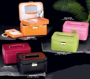 Jewelry Case Travel Style Lizard-Grained Leather
