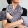"Warming Scarf  Charcoal  66"" x 6"" Aromatherapy Hot or Cold"