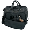 Embassy� Solid   Leather Portfolio Briefcase with Gun Holster