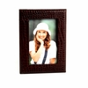 Picture Frame Croco-Grained Leather 4 X 6