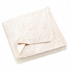 Sherpa Fleece Blanket Throw  Ivory    FREE SHIPPING