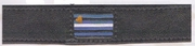 """Leather Arm Band  / Collar Leather Pride Flag  16""""-17"""""""