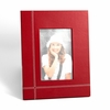 "Stitched Red Leather Picture Frame 4"" x 6"""