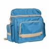 HERITAGE� Traveler Artist Backpack Sand and Sea  Blue with Tan Trim