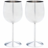 Wine Goblet Set  T304 Stainless Steel    2pc