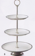 Elegance® Serving Stand 3-Tier Enameled and Stainless Steel
