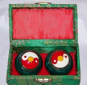 Chinese Relaxation Meditation Therapy Balls with Chimes Yin Yang