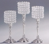 Elegance® Sparkle Silverplated Candleholders  for Votive or Tealight  3pc.