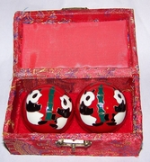 Chinese Relaxation Meditation Therapy Balls with Chimes  Pandas