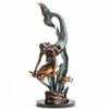 Ocean Explorers  Mermaid and Turtles Brass Sculpture