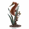 Single Seahorse Solid Brass Figurine