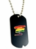 Rainbow Military Style ID Tag   Squiggle Design