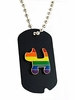 Rainbow Military Style ID Tag  Gay Pride Rainbow Dog Design