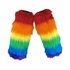 Rainbow Faux Fur  Leg Warmers  (pr)