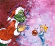 Santa's Little Helper Giclee - Grinch