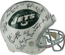Team Signed 1969 NY Jets Helmet