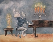 Bugs At Piano - Bugs Bunny Art