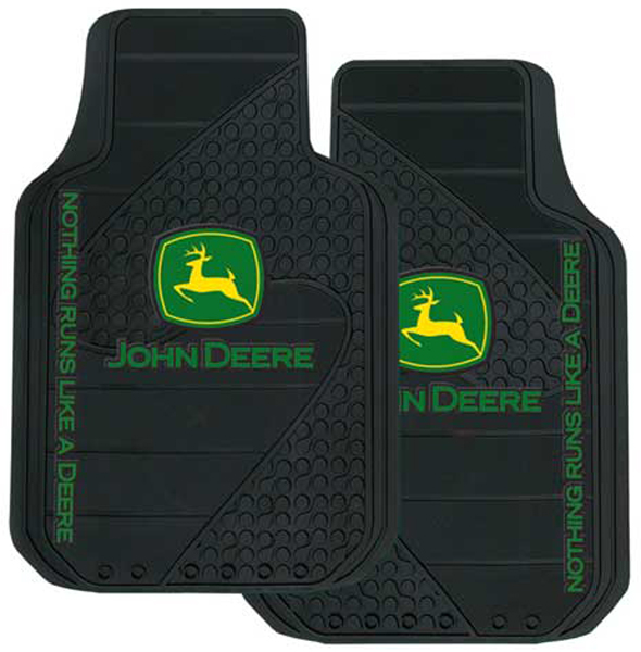 John Deere Rubber Floor Mats Pair