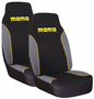 Momo Front High-Back Black & Gray Seat Cover (Pair)
