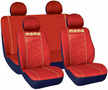 Momo Embossed Front Low-Back & Rear Seat Cover Set (4 Piece)