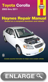 Toyota Corolla Haynes Repair Manual (2003-2011)