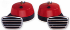 Torino Compact Red Twin Electric Horn