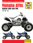 Yamaha Raptor 660 & 700 ATV Haynes Repair Manual (2001-2012)