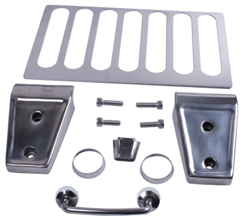 Rugged Ridge 11101.04 Hood Dress Up Kit; Stainless Steel; WRANGLER (07-13JK)
