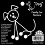 Black & White Stick Drawing Dog Sticker