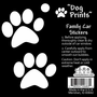 Black & White Dog Print Stickers