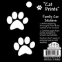 Black & White Cat Print Stickers
