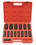 15 Pc. 1/2� Drive 12 Point Deep Fractional Impact Socket Set