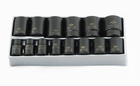 "1/2"" Drive Fractional 12 Point Standard  Impact Socket Set - 14 Pc."