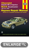 Chevrolet Impala SS, Caprice and Buick Roadmaster Haynes Repair Manual (1991-1996)
