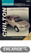 Toyota Highlander & Lexus RX300/330 Repair Chilton Manual (2001-2007)