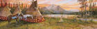 Indian Village at Evening Fire Rear Window Decal
