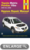 Toyota Matrix and Pontiac Vibe Haynes Repair Manual (2003-2008)