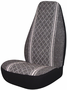 Gray Diamond-Back Universal Bucket Seat Cover (Pair)