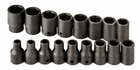 "17 Piece 1/2"" Drive 6 Point Standard Metric Impact Socket Set"