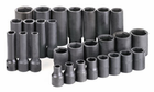"28 Piece 1/2"" Drive 6 Point Standard And Deep Fractional Impact Socket Set"