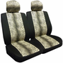 Leopard Low Back Bucket Airbag Seat Cover (Pair)