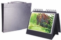 Table Top Presentation Display Easel Binder  with Handle - Horizontal Multiring