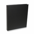 "Rossano Synthetic Leather 1/2"" 3-Ring Binders - Black"